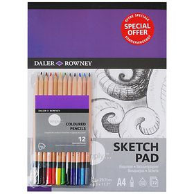 Daler-Rowney Simply A4 Sketch Pad and Pencil Set